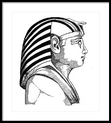 226x250 King Tut Drawing By Carlos Santana Trott