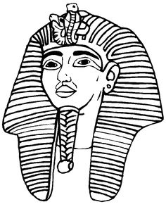 236x314 King Tut Mask Print. Color. Fun! Free Printables, Coloring Pages