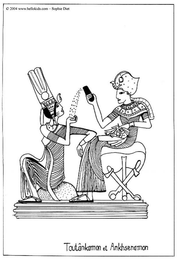 621x900 Tutankhamun Coloring Pages