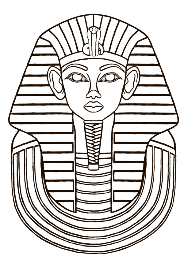 600x837 Egyptian Sarcophagus Designs Then I Did A Line Drawing
