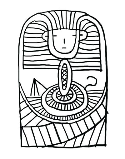 400x509 Coloring Pages Sheets Free King Tuts Tomb Page Murs