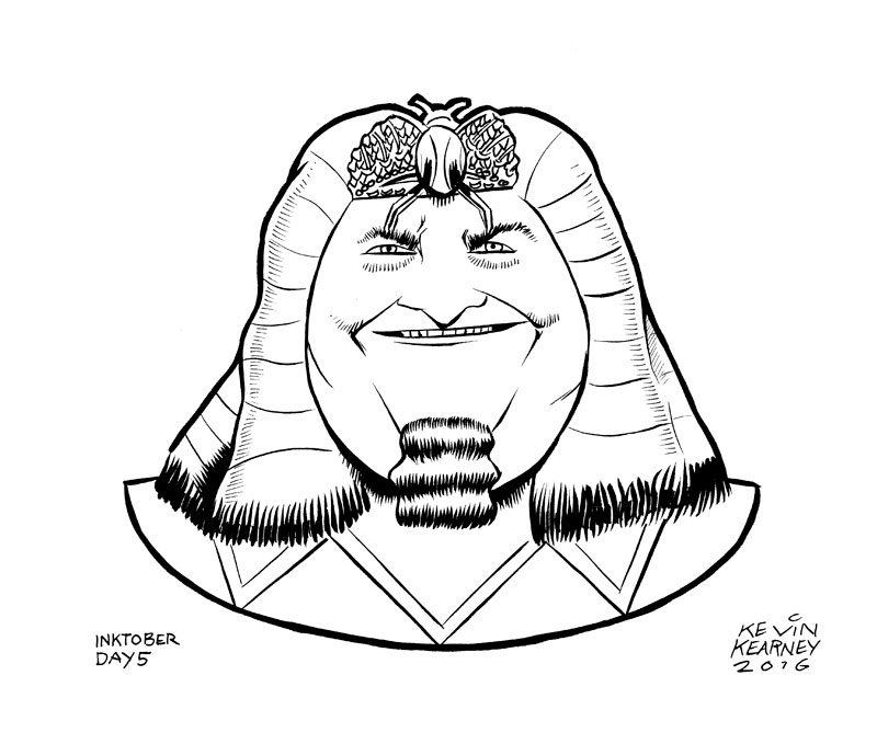 800x679 Day 5 Of Inktober 2016 King Tut Comics By Kevin K