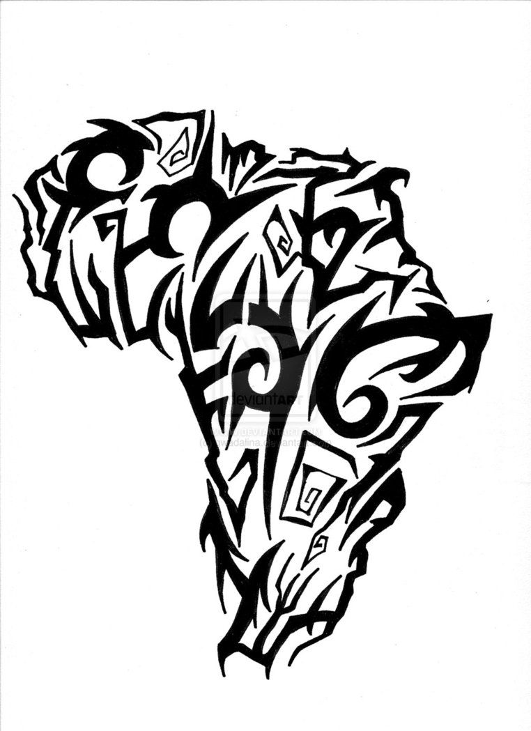 762x1049 Africa Tattoo Drawings