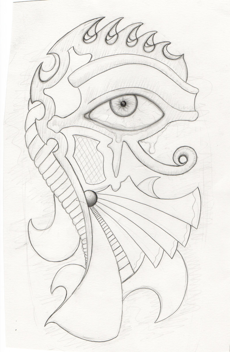 800x1222 Eye Of Horus Tattoo Sketch By