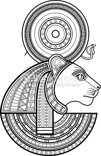 334x514 Vector Art Sekhmet Goddess Sekhmet Vector Art
