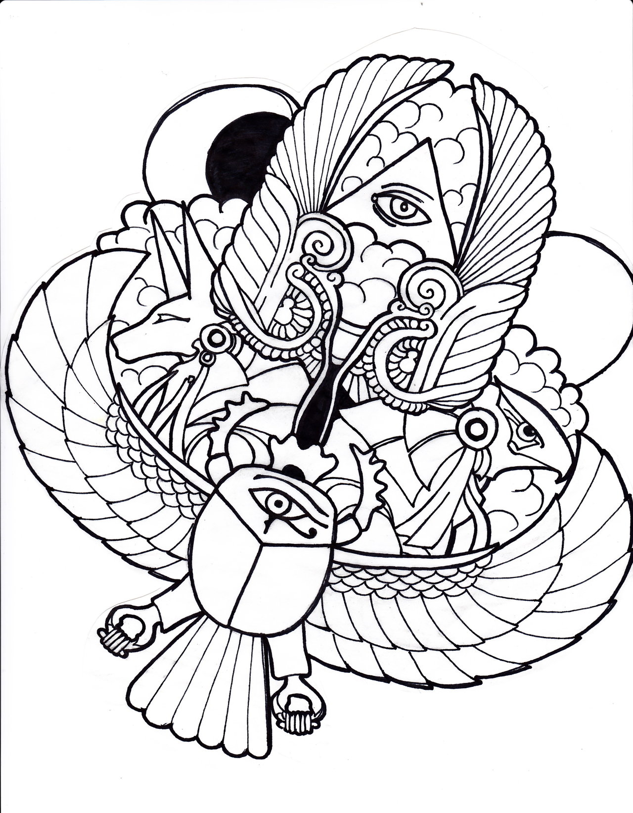 1280x1643 Coloring Pages Ancient Egypt