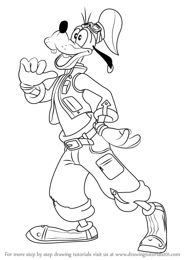 598x844 Learn How To Draw Goofy From Kingdom Hearts (Kingdom Hearts) Step