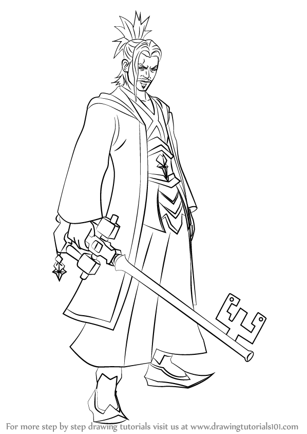 598x844 Learn How To Draw Master Eraqus From Kingdom Hearts (Kingdom