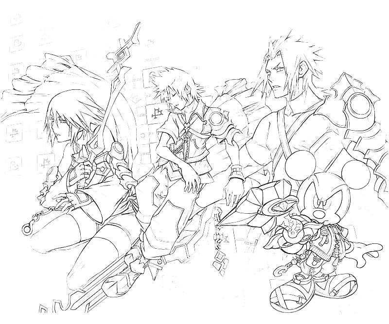 800x667 Kingdom Hearts Coloring Pages Home Gt Kingdom Hearts Gt 10 Roxas