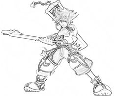236x196 Kingdom Hearts Coloring Pages ADULT COLORING BOOK PAGESMore Pins