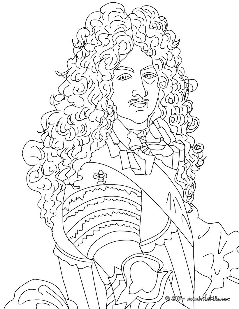 820x1060 King Louis Xiv, The Sun King Coloring Pages
