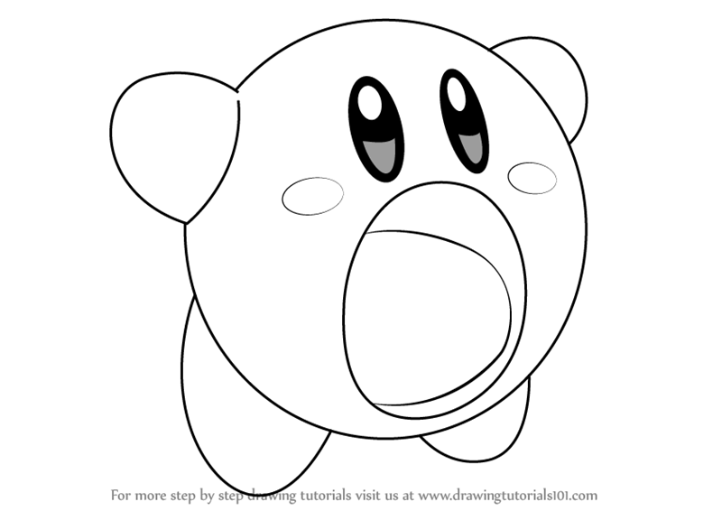 800x566 Learn How To Draw Yellow Kirby From Kirby (Kirby) Step By Step