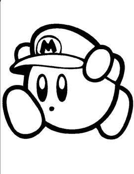 271x350 Mystery Kirby Mario Grid Drawing By Ashley Lynn Tpt