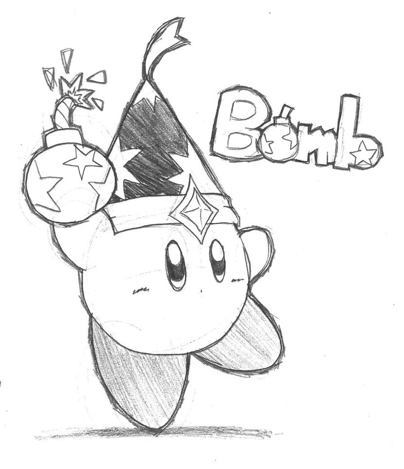 830x963 Bomb Kirby Pencil By Riodile