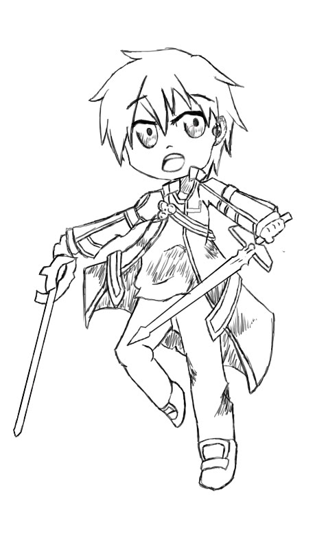 475x775 Kirito Fanart Sword Art Online (Chibispeed Art Edition!)