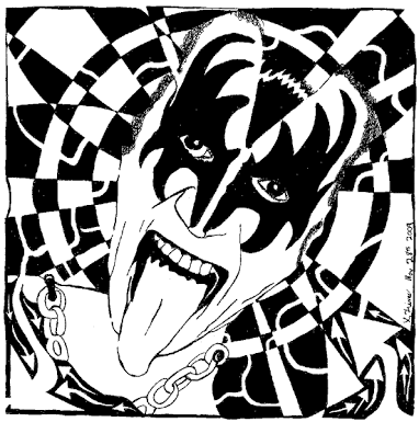 382x385 Image Result For Kiss Drawings The Rock Band Kiss