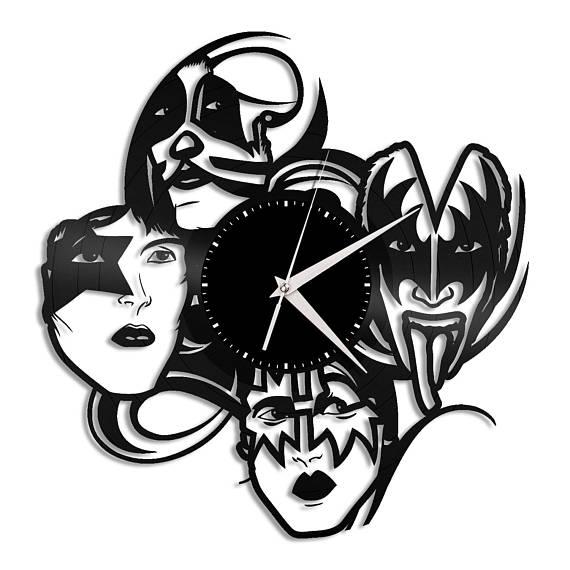 570x570 Kiss Band Clock Music Lover Gift Kiss Clock Rock Band Wall
