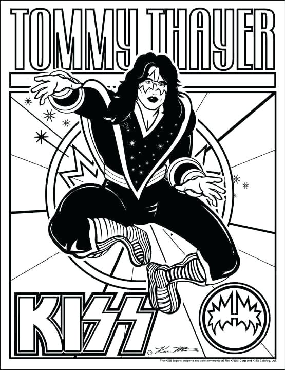 555x720 Kiss Coloring Pages Print Photos View Full Size Image Kiss Band