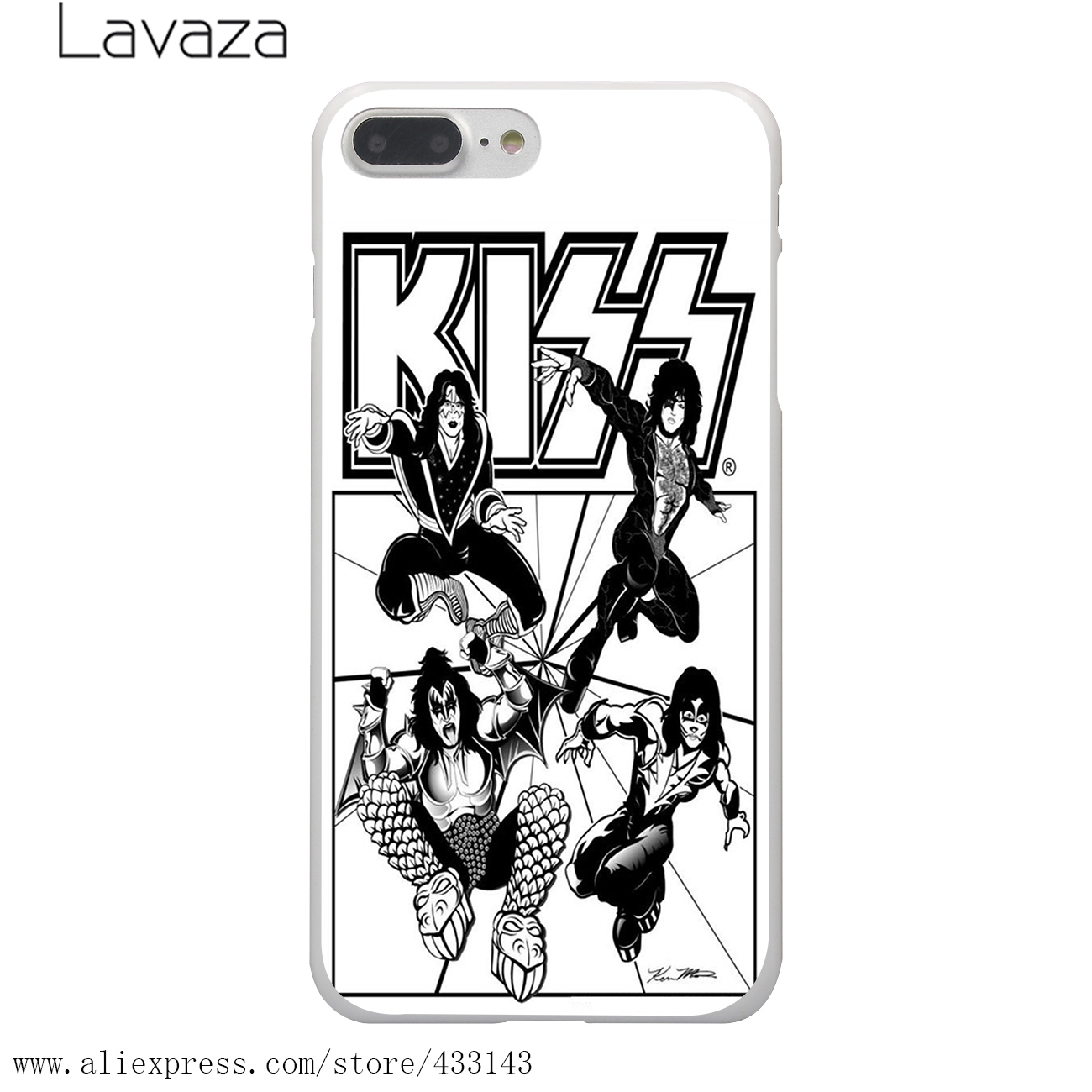 1300x1300 Lavaza Gene Simmons Kiss Band Hard White Coque Shell Phone Case