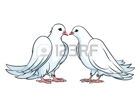 450x327 Kissing Doves Stock Photos. Royalty Free Business Images