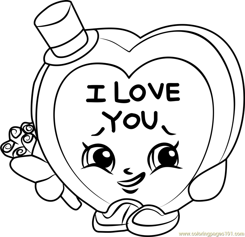 800x774 Candy Kisses Shopkins Coloring Page
