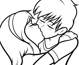 302x246 How To Draw How To Draw A Kiss For Kids