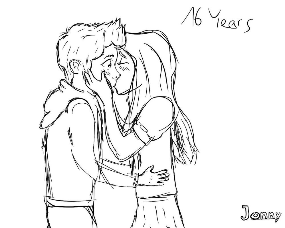 999x799 Kissing Couple Sketch By Sketchingjonny