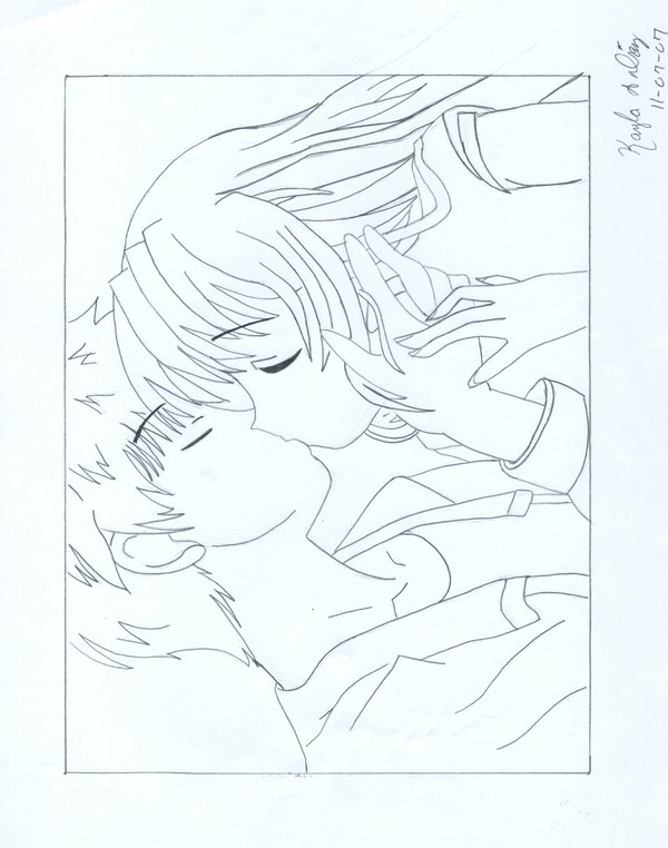 600x762 Anime Couple By Bluraven401
