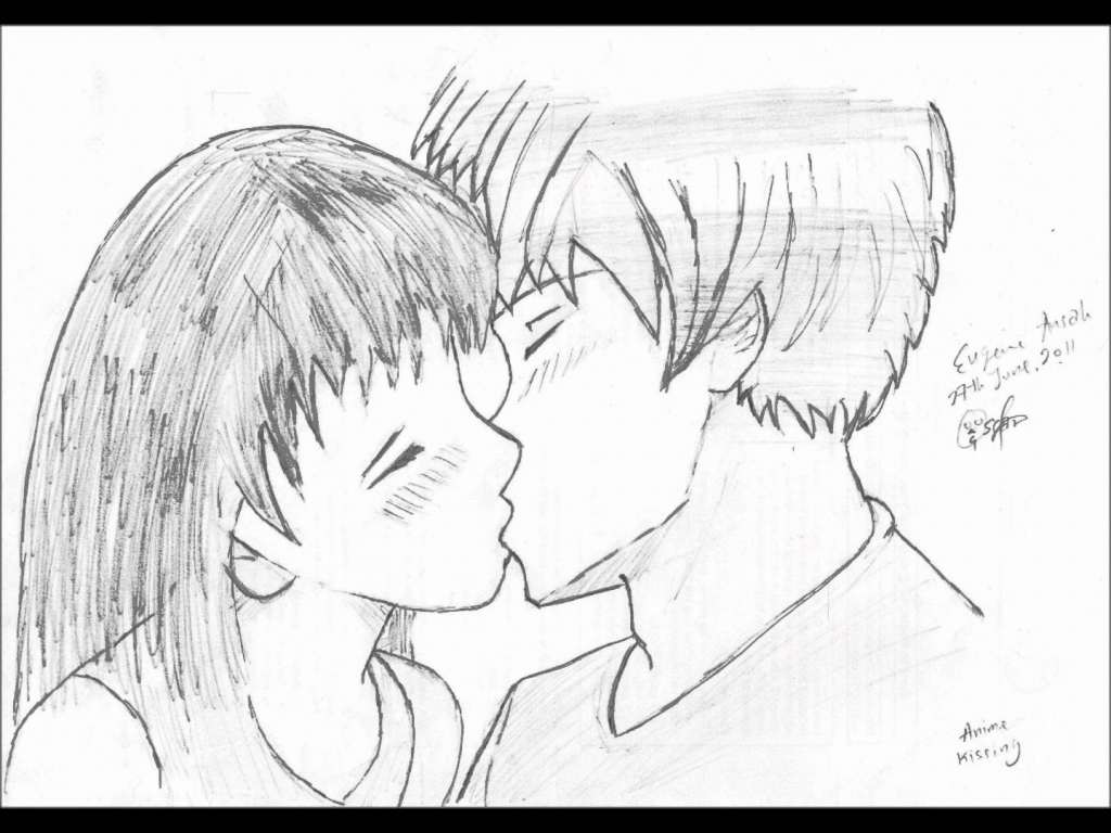 1024x768 Drawings Of People Kissing How To Draw People Kissing Mark