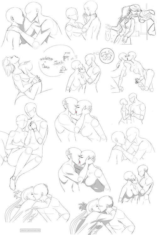500x750 Drawn Kissing Anime