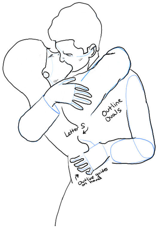 525x758 How To Draw Kissing Drawing A Passionate Kiss For Valentines Day