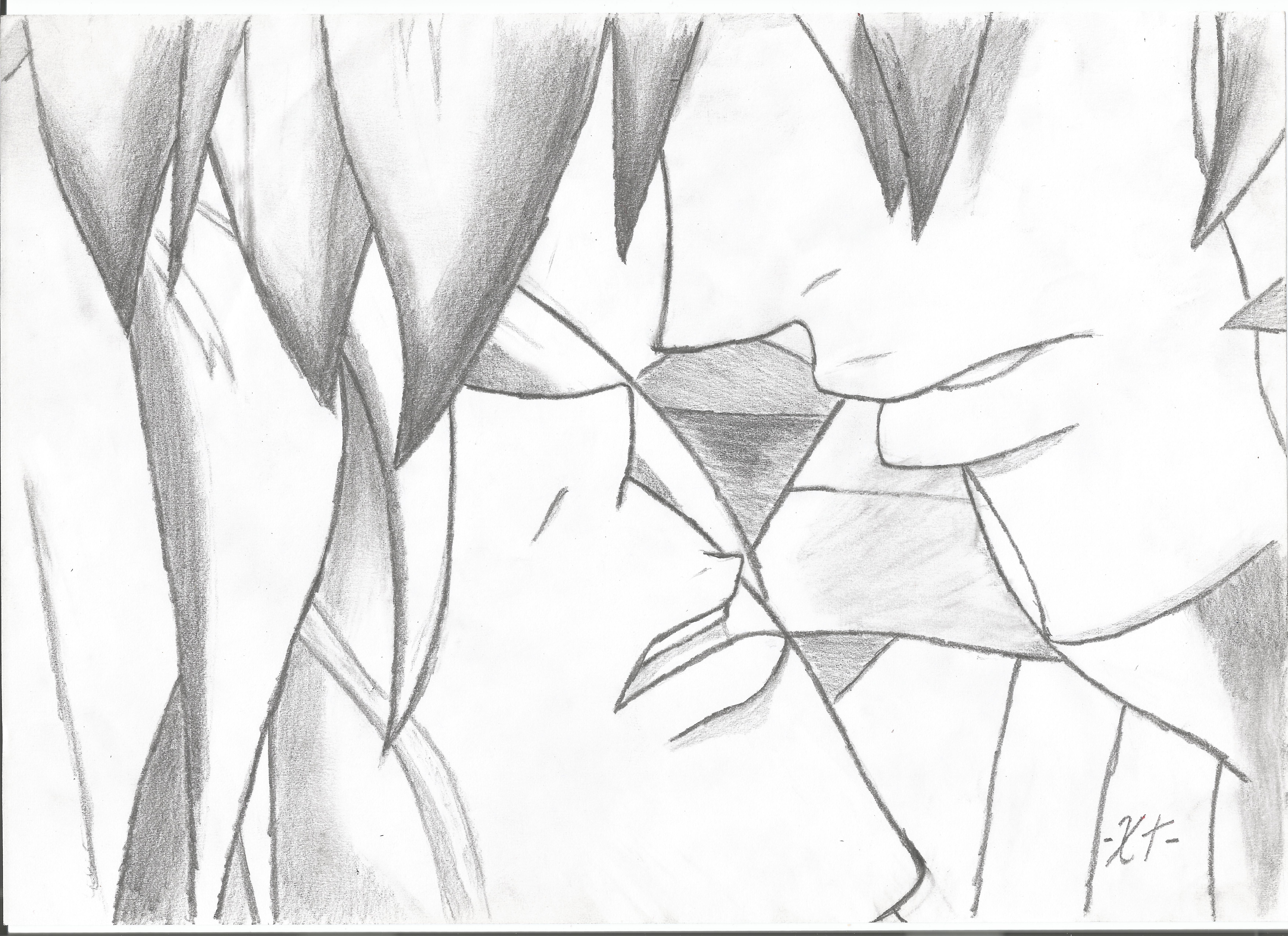 7014x5100 The Almost Kiss L Drawing By Xtuzil
