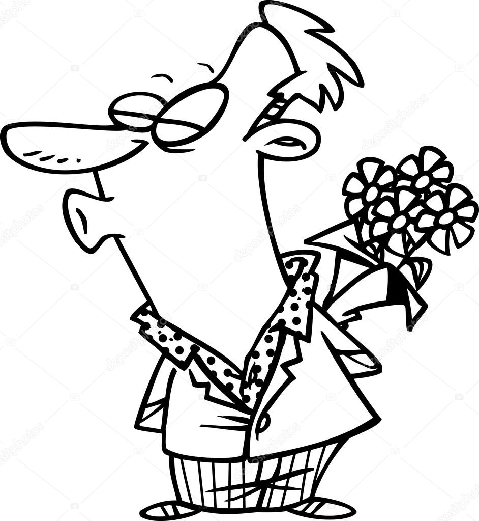942x1023 Cartoon Man Puckering His Lips For A Kiss Stock Vector