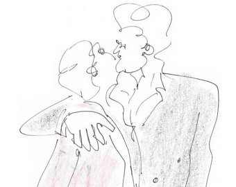 340x270 Kiss Pencil Drawing Etsy