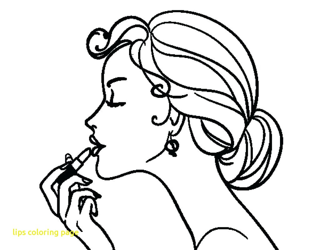 1024x802 Lips Coloring Page Coloringpageforkids.co