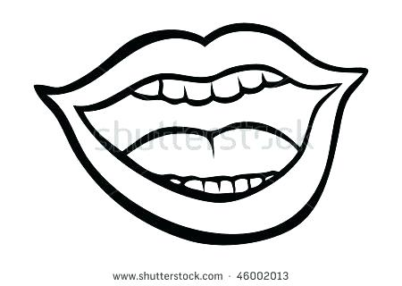 450x320 Lips Coloring Pages Lips Coloring Page High Quality Kissing Lips