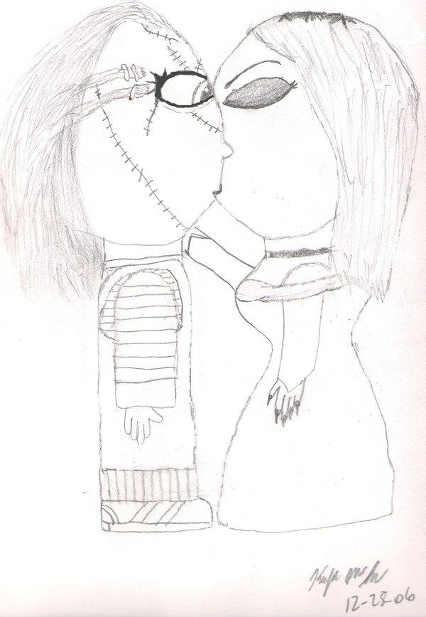 600x868 Chucky And Tiffany Kissy Face By Chuckylover