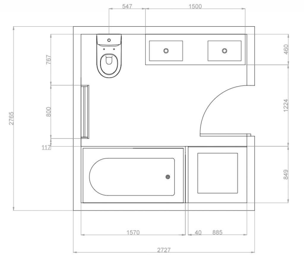 1024x858 Autocad Kitchen Design