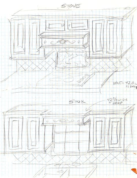 474x615 Autocad Sketch Of A Complete Kitchen
