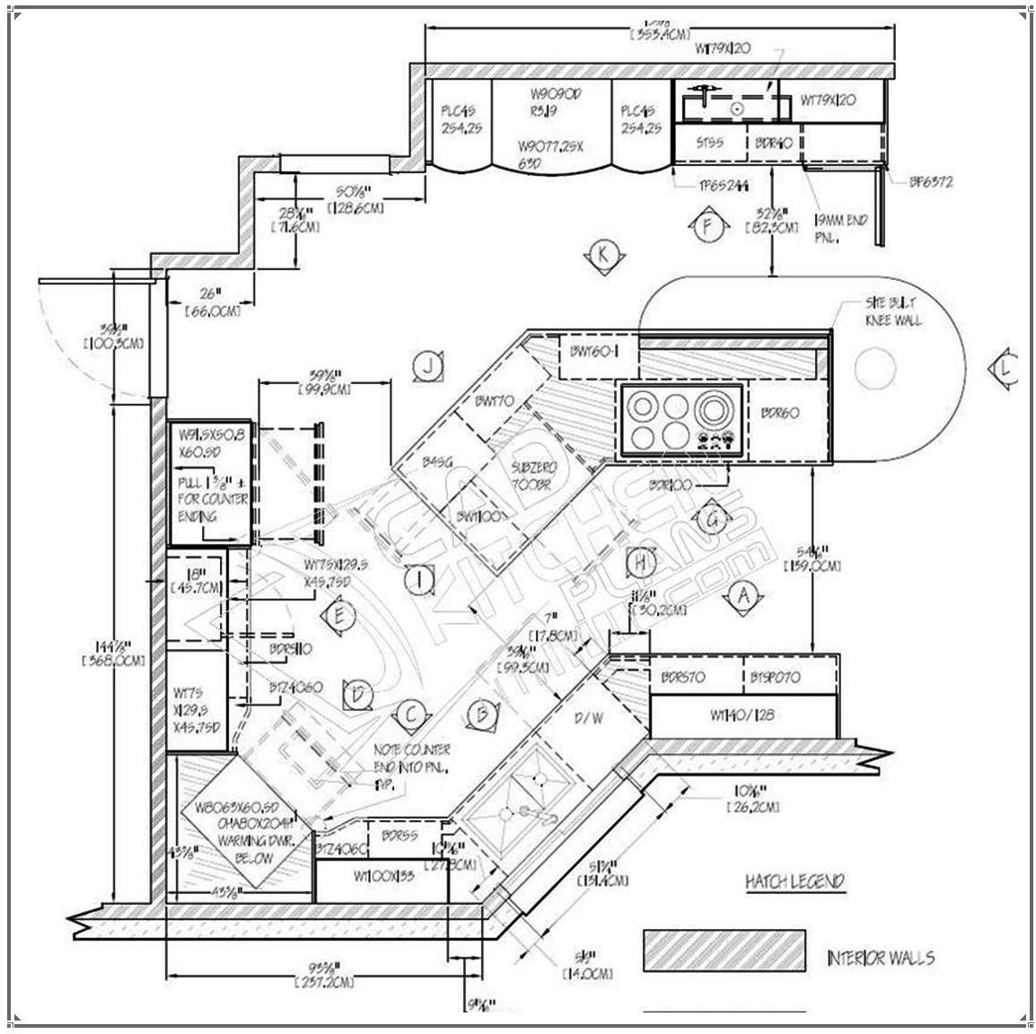 Kitchen Layout Autocad Blocks: Kitchen Autocad Drawing At GetDrawings.com