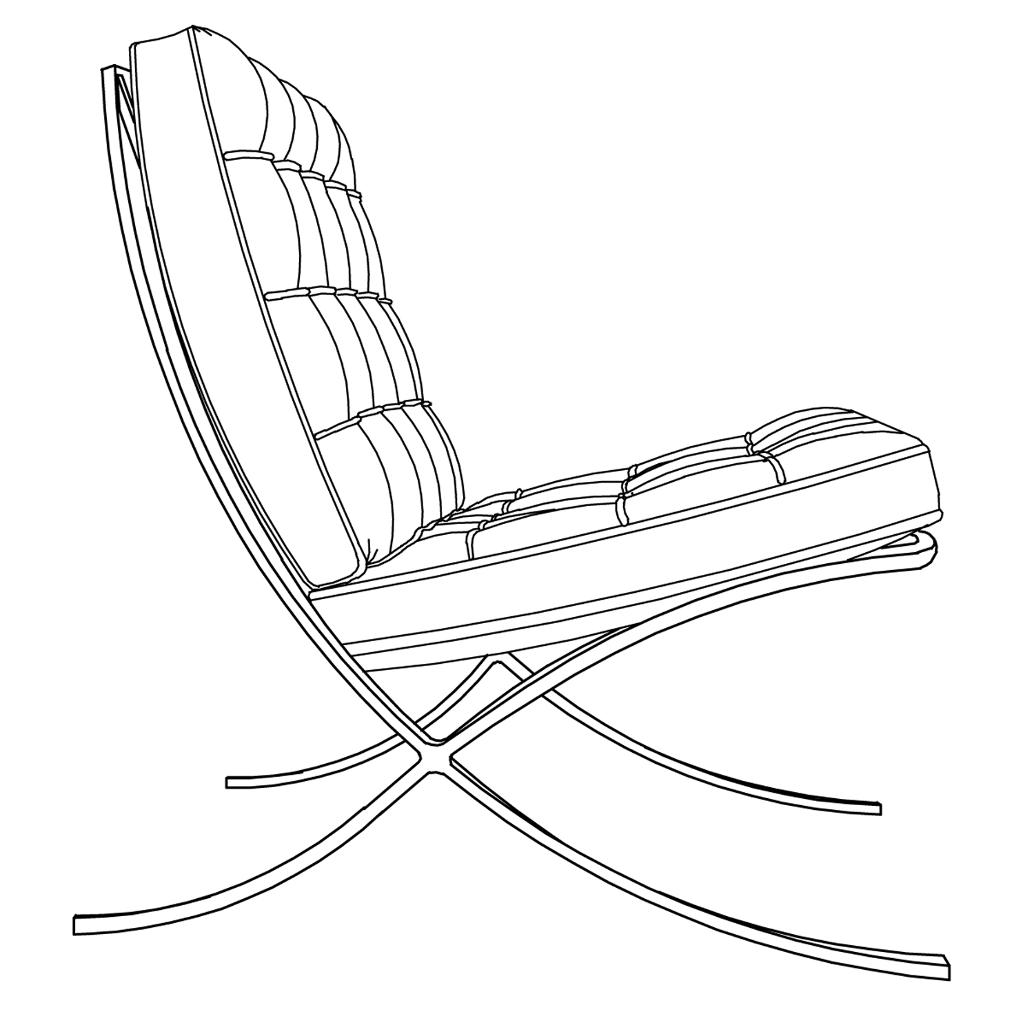 1500x1500 Chair Line Drawing Auto Cad Drawing By Jillian Autocad Program