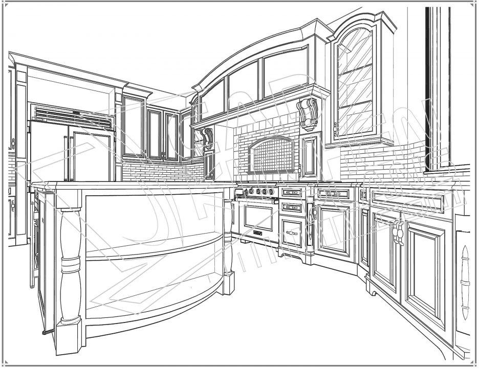 936x722 Kitchen Sink Dwg Elevation Autocad Drawing