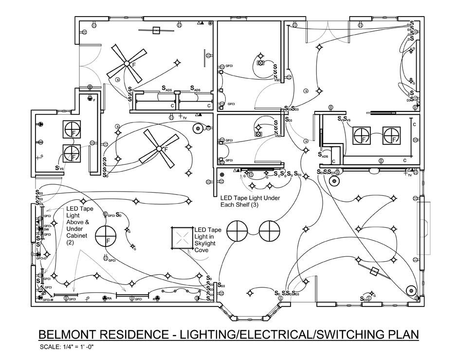 937x730 Autocad Kitchen Lighting Plans