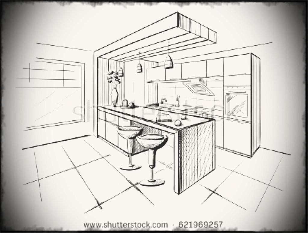 1024x775 Draw Cabinets Stronggymco Attractive Design Cad Modern Kitchen