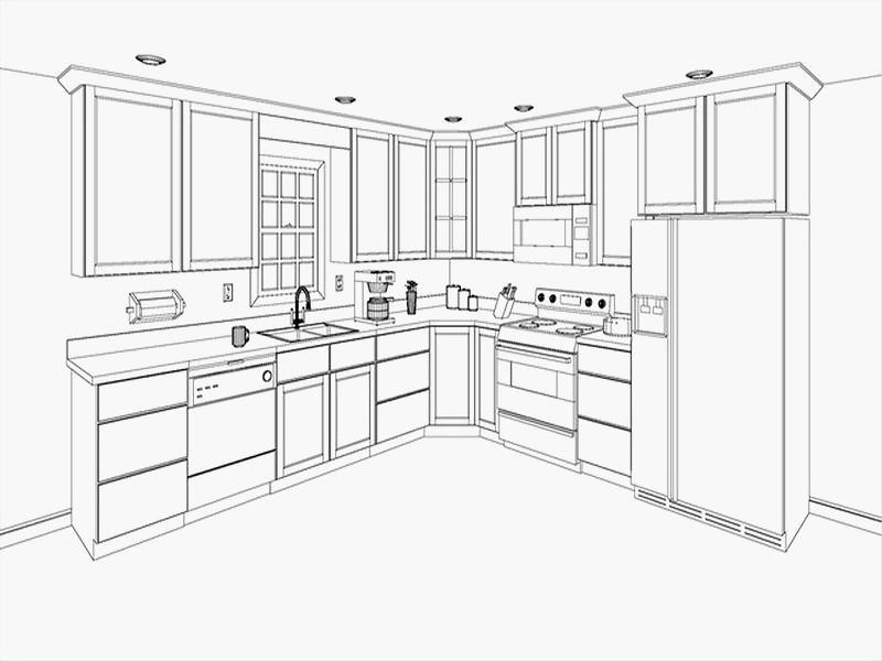 800x600 Lovely Kitchen Cabinets Design Layout