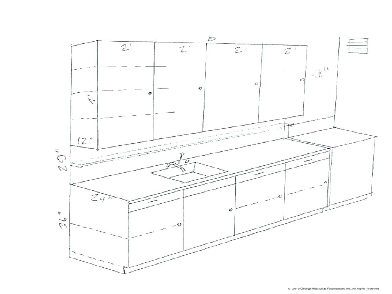 standard kitchen cabinet heights kitchen cabinet drawing at getdrawings free for 5759