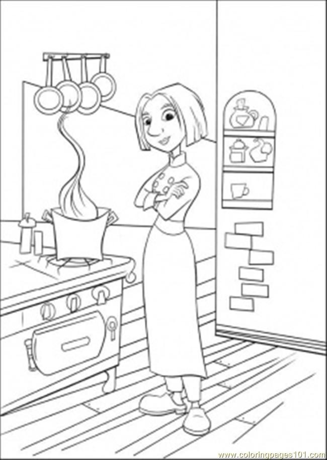 650x913 Colette In The Kitchen Coloring Page