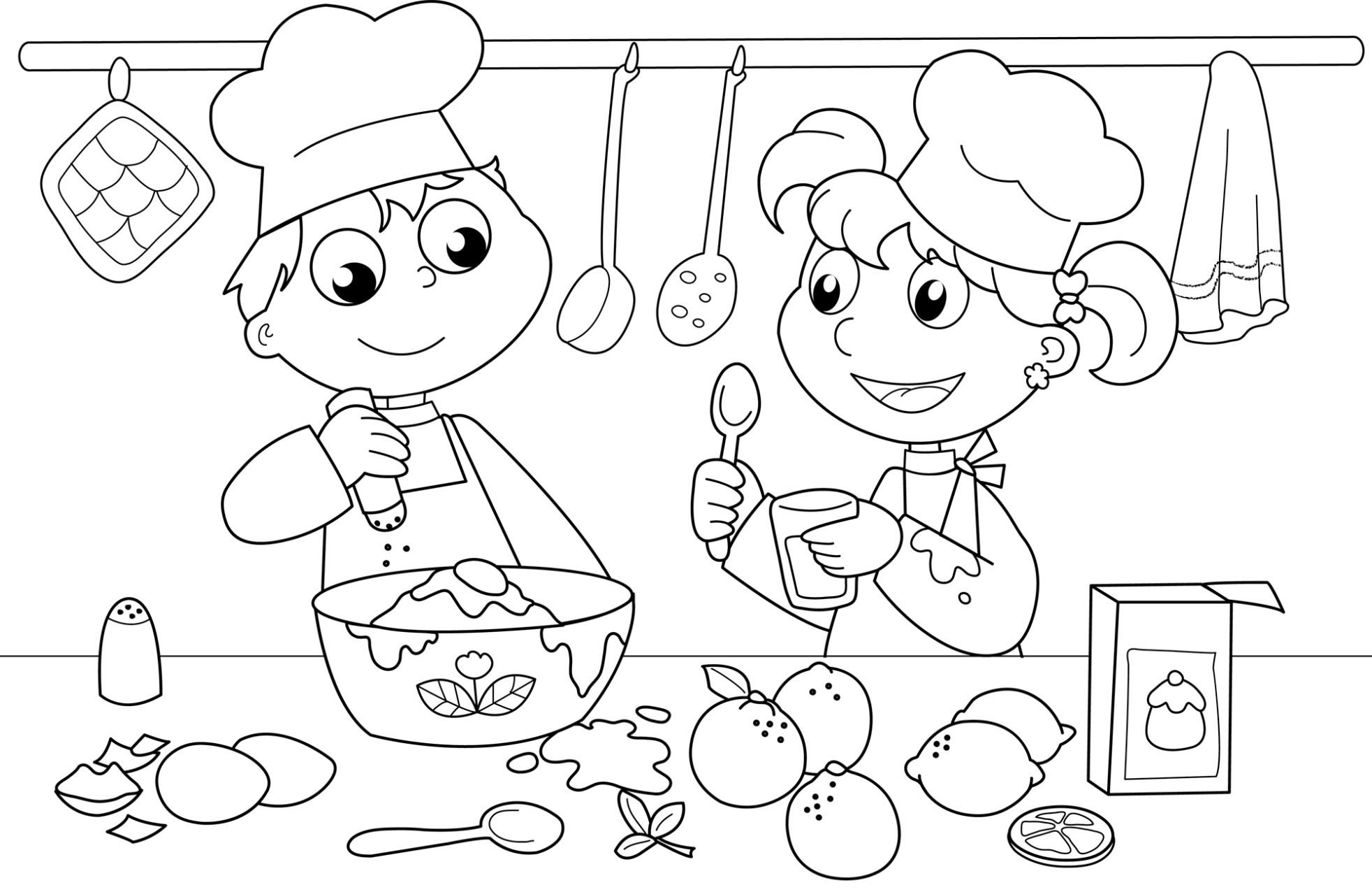1964x1276 Kids In The Kitchen Coloring Pages For Kids Inspirational Kitchen