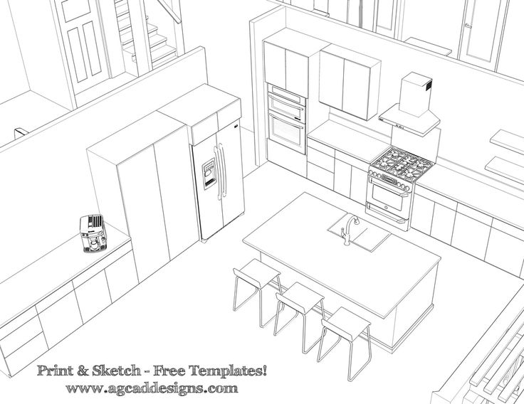 Kitchen Design Drawing