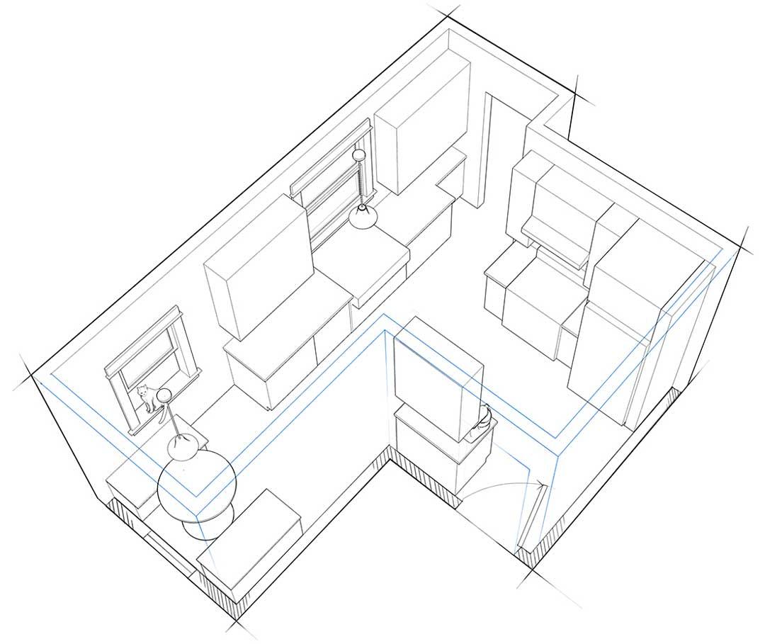 1080x909 Kitchen Design Illustration John Hartman Illustration
